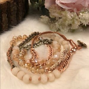 Bead and Chain Multi-Wrap Bracelet